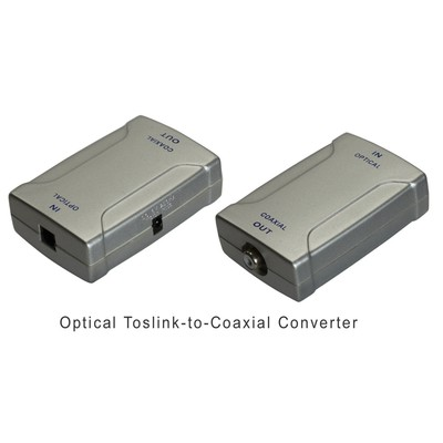 Optical Toslink-to-Coaxial RCA Digital Audio Converter