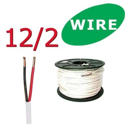 12/2 Awg 100 ft Oxygen Free In Wall Speaker Wire FT4 / UL Rated (New)