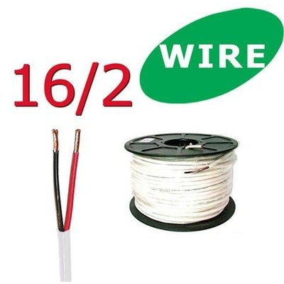 16/2 Awg 50 ft Oxygen Free In Wall Speaker Wire FT4 / UL Rated