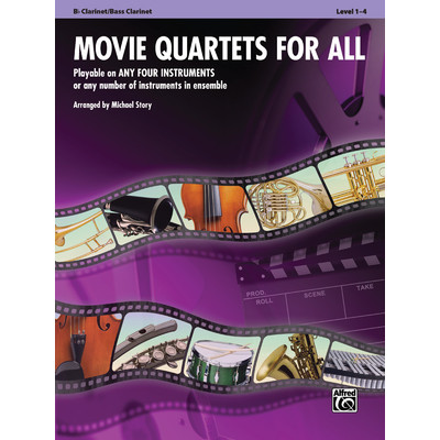 Music Movie Quartets for All - Clarinet - Alfred Music - 00-33539