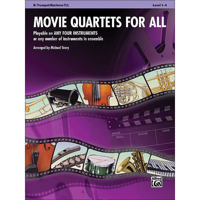 Music Movie Quartets for All - Trumpet, Bar TC - Alfred Music - 00-33542