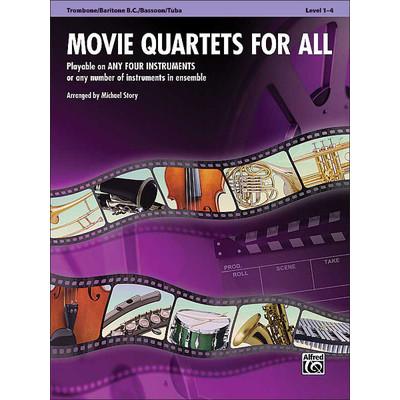 Music Movie Quartets for All - Trombone, Bar BC, Bsn, Tuba - Alfred Music - 00-33544