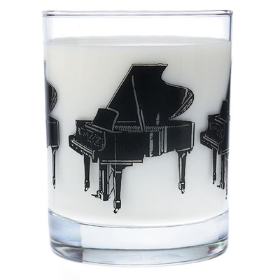 Music Themed Glass Tumbler - Grand Piano - Aim - 2205
