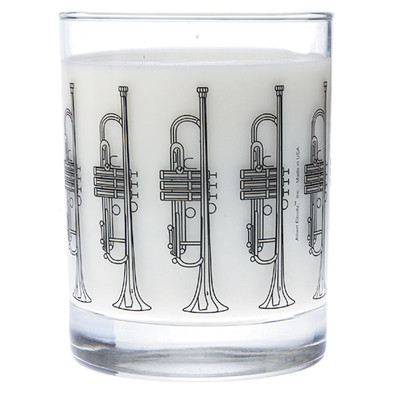 Music Themed Glass Tumbler - Trumpet - Aim - 2210