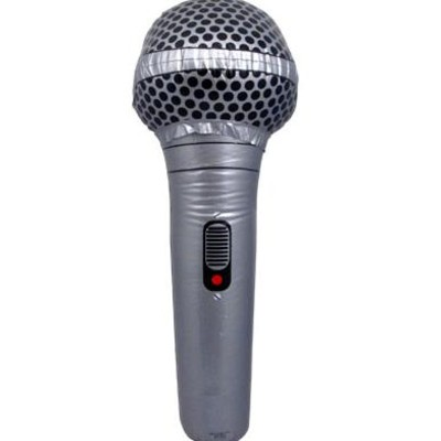 """Inflatable Microphone Aim 28"""" Gold or Silver - Aim - 32612"""