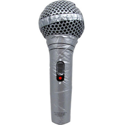 """Inflatable Microphone Aim 12.5"""" Gold or Silver - Aim - 32613"""