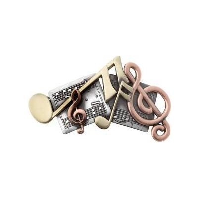 Hair Clip Aim Tri-Colour Music & Notes - Aim - 35900