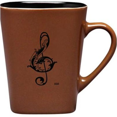 Mug Aim Square Bottom G-Clef Tan - Aim - 56155