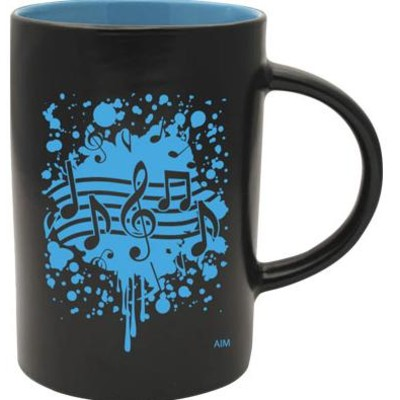 Mug Aim Cafe Tow-Tone Note Burst Blue - Aim - 56157