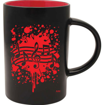 Mug Aim Cafe Tow-Tone Note Burst Red - Aim - 56158