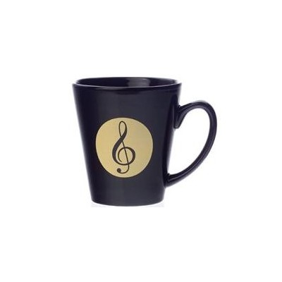 Mug Aim Latte  G-Clef Black  Small 12 Oz. - Aim - 56160