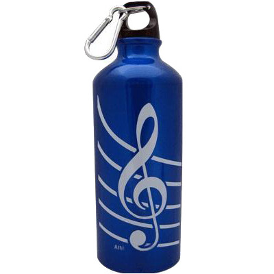 G-Clef Aluminum Water Bottle - Blue - Aim - 71490B
