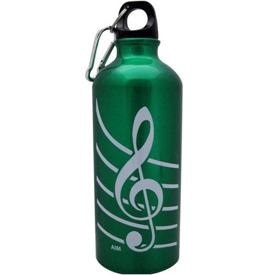 G-Clef Aluminum Water Bottle - Green - Aim - 71490D