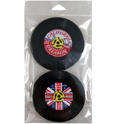 45 Records Coaster Set - 4 Pack - Aim - 82890