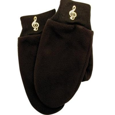 Mittens Aim Fleece G-Clef Black - Medium/Large - Aim - 9912ML