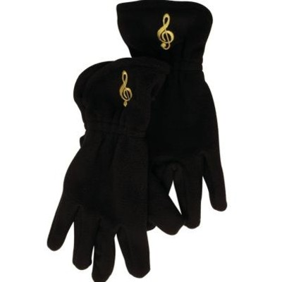 Gloves Aim Fleece G-Clef Black - Small/Medium - Aim - 9915SM