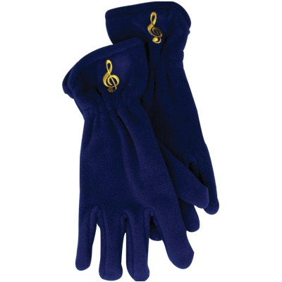 Gloves Aim Fleece G-Clef Royal Blue - Small/Medium - Aim - 9918SM