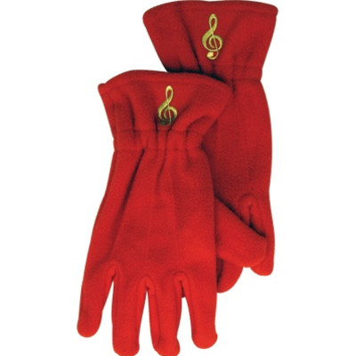 Gloves Aim Fleece G-Clef Red - Medium/Large - Aim - 9919ML