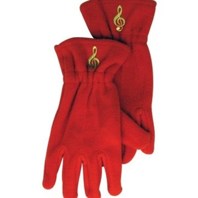 Gloves Aim Fleece G-Clef Red - Small/Medium - Aim - 9919SM