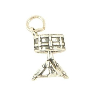 Snare Drum Silver Charm - On Stand - Aim - CH29