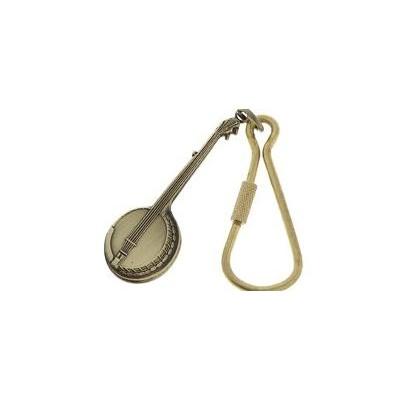 Keychain Aim Banjo in Antiqued Brass - Aim - K78