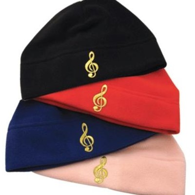 Fleece Hat with Gold G-Clef - Pink - Aim - 71850D
