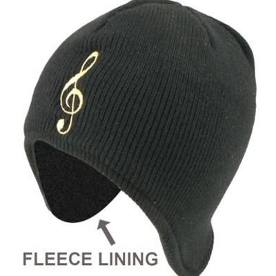 Hat Aim Beanie w/Ear Flap G-Clef (Fleece Lining) - Aim - 9310