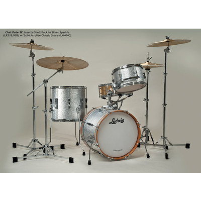 """Club Date SE Jazzette Shell Pack - 8""""/18""""/14"""", Silver Sparkle - Ludwig - LR318JX OS"""