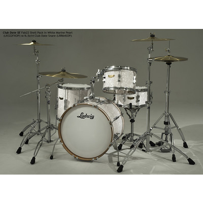 """Club Date SE Downbeat Shell Pack - 8""""/20""""/14"""", White Marine Pearl - Ludwig - LR320DX OP"""