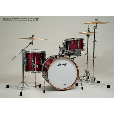 """Club Date SE Downbeat Shell Pack - 8""""/20""""/14"""", Ruby Sparkle - Ludwig - LR320DX RS"""