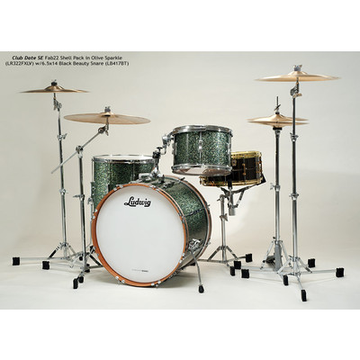 """Club Date SE Fab 3 Shell Pack - 9""""/22""""/16"""", Olive Sparkle - Ludwig - LR322FX LV"""