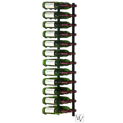 36 Bottle Vintage View Wall Mounted Wine Rack, Platinum Series Nickel Finish
