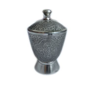 Canterbury Antique Pewter Canister