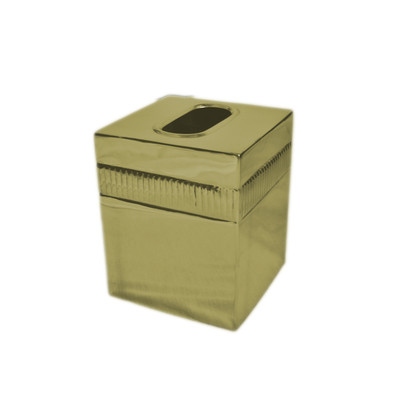 Moderne Gold Tissue Box