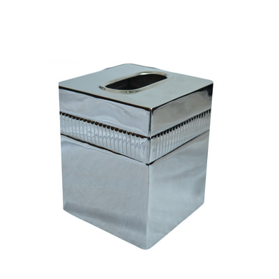 Moderne Silver Boutique Tissue Box