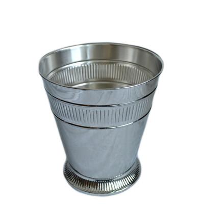 Moderne Silver Wastebasket