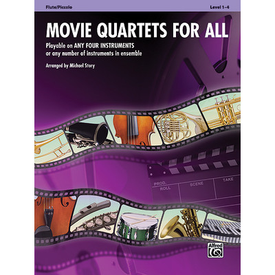 Music Movie Quartets for All - Flute - Alfred Music - 00-33538