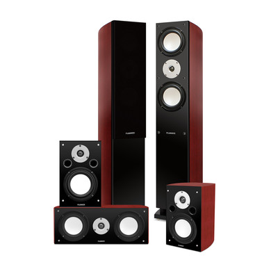 Fluance XLHTB High Performance 5 Speaker Surround Sound Home Theater System (871363024732)