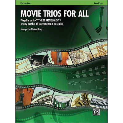 Music Movie Trios for All - Percussion - Alfred Music - 00-33536