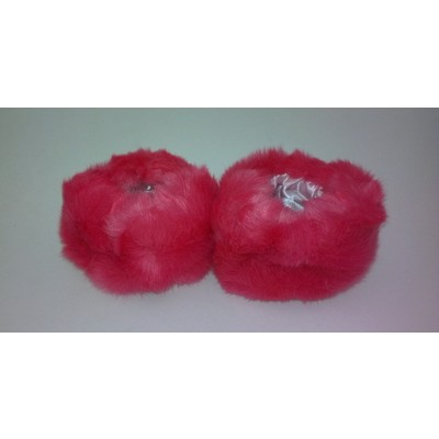 2 X Faux Fur Wristwarmers - Pink Color