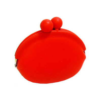 Silicone Frog Design Coins Purse - Red Color