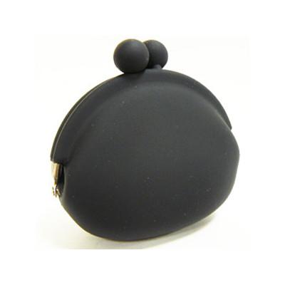 Silicone Frog Design Coins Purse - Black Color