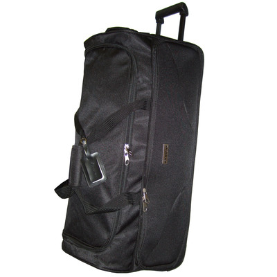 30 Inch Duffle Bag On Wheels With Trolley And Lined Interior