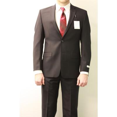 Calvin Klein slim fit suit (dark navy stripe)