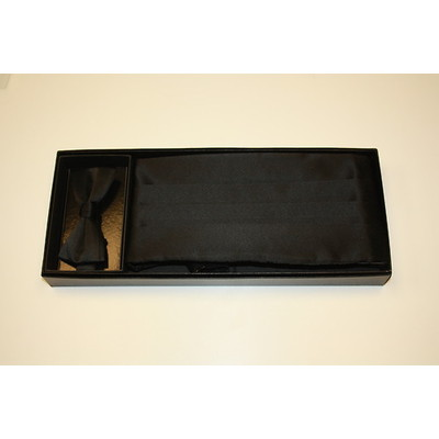 Cummerbund and bow tie set (Black)