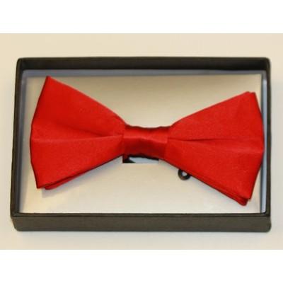 Men's red silk bow tie