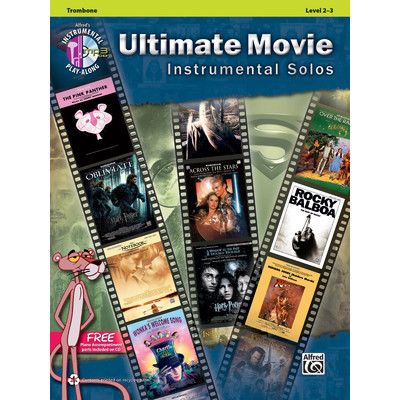 Music Ultimate Movie Instrumental Solos w/CD - Trombone