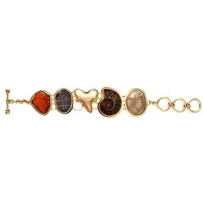 Charles Albert Alchemia Multi-Fossil Bracelet with Lip