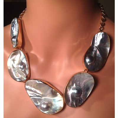 Charles Albert Alchemia Mabe Blister Pearl Necklace