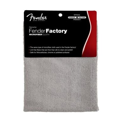 Fender Factory Microfiber Cloth - Gray - Fender - 099-0523-000